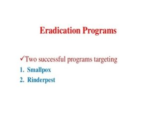 Eradicated Program