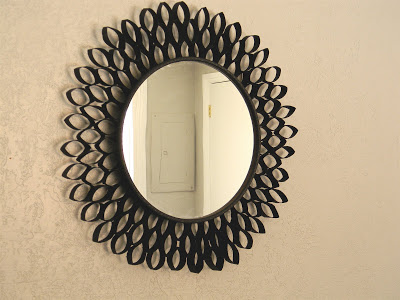 Decorate Mirror with Toilet Paper Roll