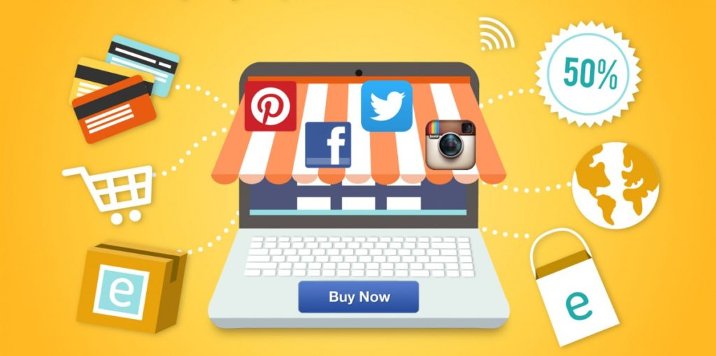 Social Media Icons on Ecommerce Website