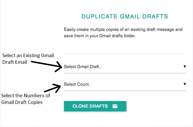 Duplicate Gmail Email Draft