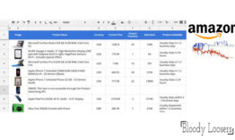 Google Sheet Acts As the Amazon Price Analyzer