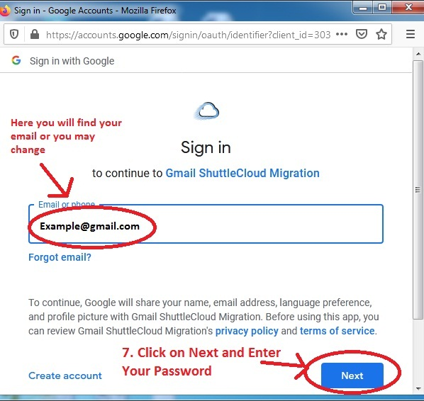 Shuttlecloud Authentication - Take Backup of One Gmail Inbox to Another Gmail Account