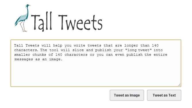 Tall Tweets Write More Than 280 Characters Tweet at Twitter