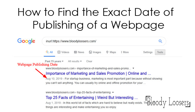 How to Find the Exact Date of Publishing of a Webpage Manually