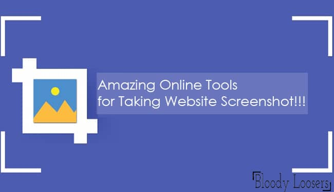 Amazing Online Tools for Taking Website Screenshot
