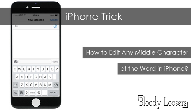 iPhone Trick - How to Edit Any Middle Character of the Word in iPhone