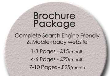 Monthly Website Design Brochure Package