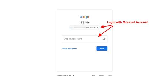 Sign in to Your Account - Unpublish Google Business Website