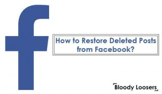 How to Restore Deleted Posts or Pics from Facebook