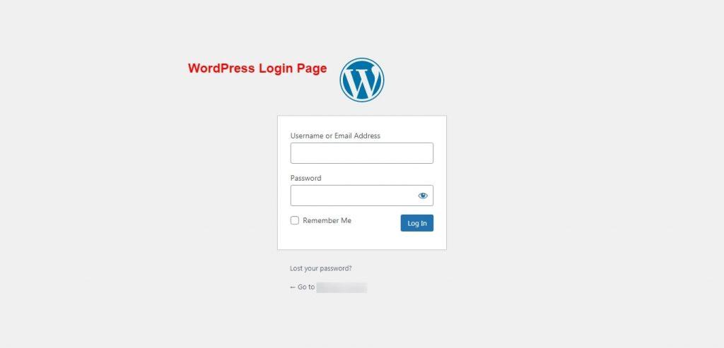 Step 1 - WordPress Website's Login Page - Password Generator Tool