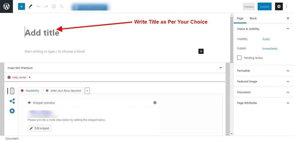 Step 4 - Write A Title - Password Generator Tool
